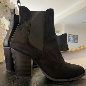 OFFER ME Black Heel Boots